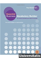 Essential Business Vocabulary Builder Pre-intermediate to Intermediate + CD