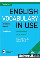English Vocabulary in Use Advanced - 3rd edition - with answers - includes ebook with audio